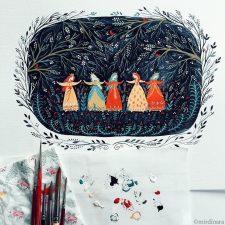 As Ilustrações de Dinara Mirtalipova