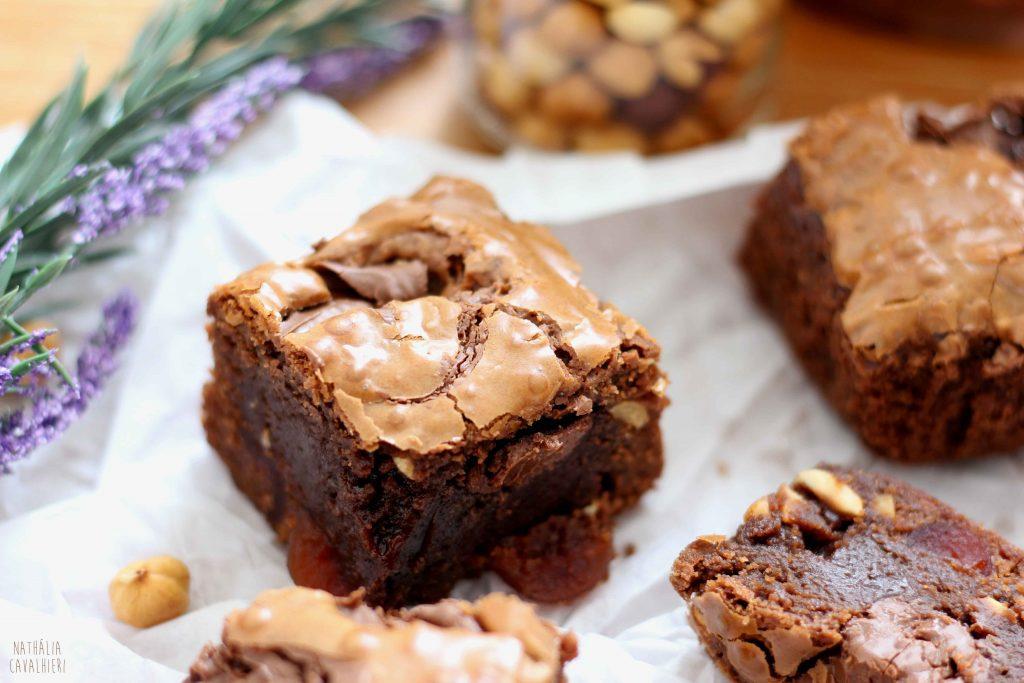 Brownie de Nutella com Avelã e Cereja