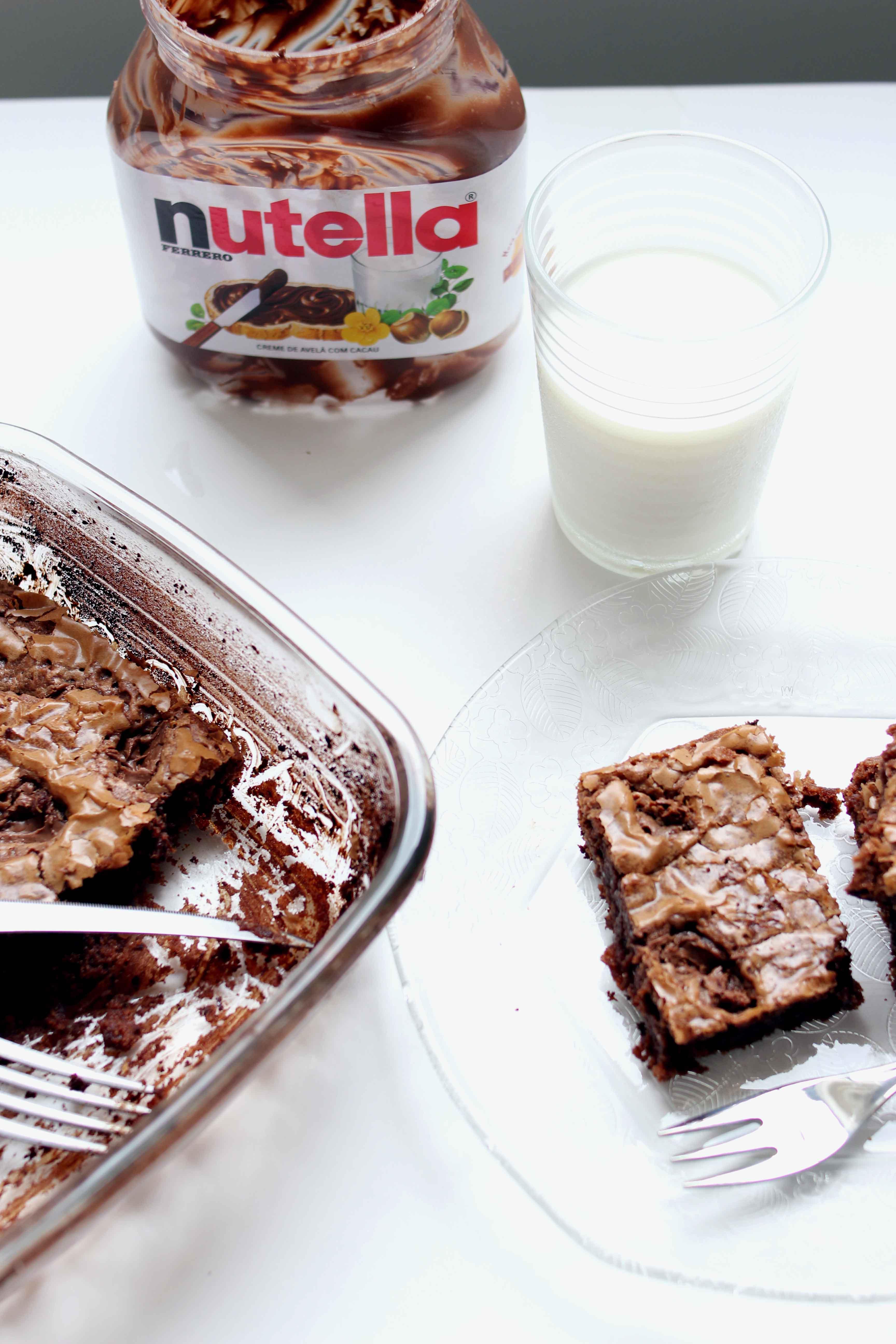 Brownie de Nutella Fácil
